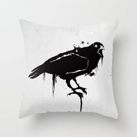A Crow Throw Pillow