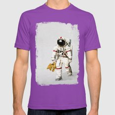 Space Can Be Lonely Mens Fitted Tee Ultraviolet SMALL