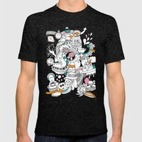 My Happy Doodle Mens Fitted Tee Tri-Black SMALL