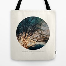 White Lights Tote Bag