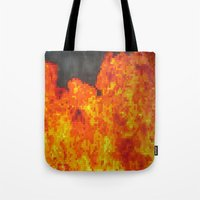 Fire On Pixel (watercolo… Tote Bag