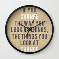 Change The Way You Look … Wall Clock