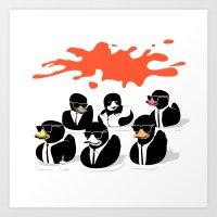 Reservoir Ducks Art Print