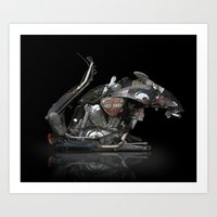RAT BIKE Art Print