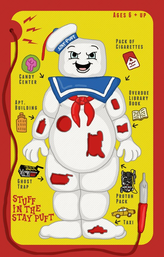 Stuff in the Stay Puft Art Print