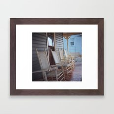 Rocking Chairs Framed Art Print