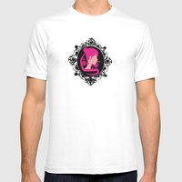 Princess Serenity Cameo Mens Fitted Tee White SMALL