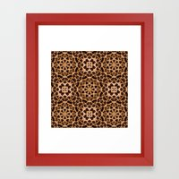 Leopard Fur Abstract Kaleidoscope Print Framed Art Print