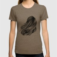Hair Womens Fitted Tee Tri-Coffee SMALL