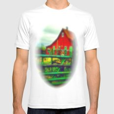 Red House Mens Fitted Tee SMALL White