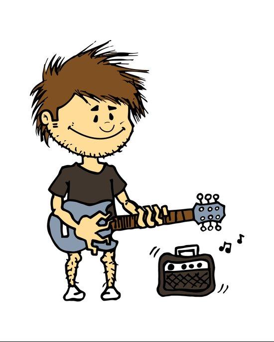 Guitar Boy Art Print