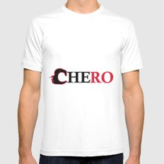 Che ro Mens Fitted Tee White SMALL