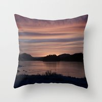 Frozen Sunset 4 - Pale Light Throw Pillow