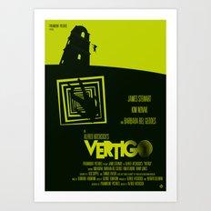 Alfred Hitchcock's Vertigo Art Print