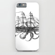Octopus Attacks Ship on White Background iPhone 6s Slim Case