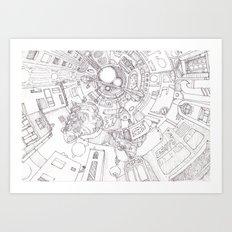 The Underground City Art Print