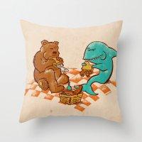 Awkward Picnic Throw Pillow