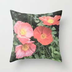 Papaveraceae Throw Pillow