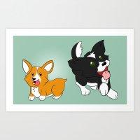 Doggies! Art Print