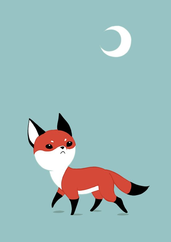 Moon Fox Art Print