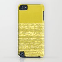 iPod Touch Cases featuring Riverside(Yellow) by Jacqueline Maldonado