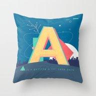 Alphabet A Throw Pillow
