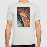 Autumn trees Mens Fitted Tee Silver SMALL