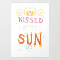Kissed Art Print