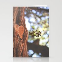 Love Is The Only Gold Stationery Cards