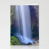 Green Waterfall Stationery Cards