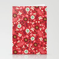 Fresh Blossoms (Reds) Stationery Cards