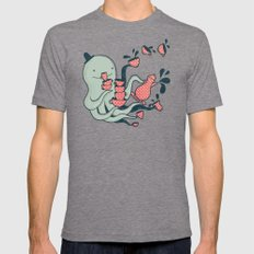 Tea & Tentacles Mens Fitted Tee Tri-Grey SMALL