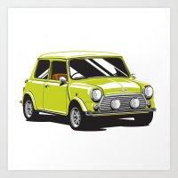 Mini Cooper Car - Chartr… Art Print