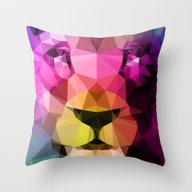 Throw Pillow featuring Wild Neon 01a. by Three Of The Possess…