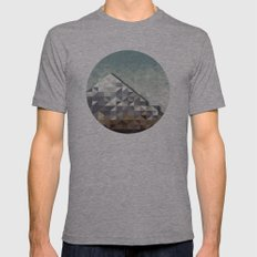 Hipster Mountains No 1 Mens Fitted Tee Athletic Grey SMALL