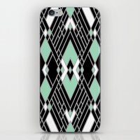 Art Deco Zoom Mint iPhone & iPod Skin