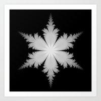 Fractal Snowflake Art Print