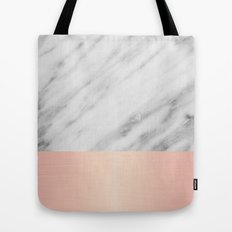 Real Italian Marble and Pink Tote Bag