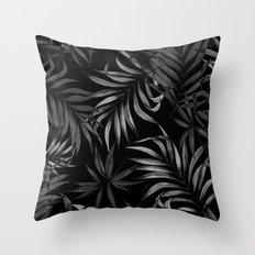 Dark Palms Throw Pillow