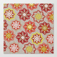 Multi Red Flowers Canvas Print