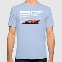 Porsche 917-023 Mens Fitted Tee Tri-Blue SMALL