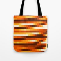 Pixels In Orange Tote Bag