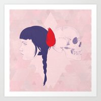 Skull+face Art Print