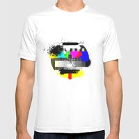 TV Trash Mens Fitted Tee White SMALL