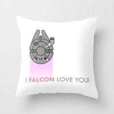 i FALCON love you Throw Pillow