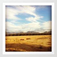 Desert Skyline Art Print