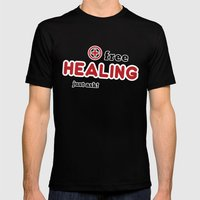 Free Healing Mens Fitted Tee Black SMALL