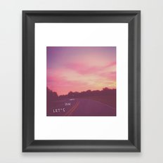 run away road Framed Art Print