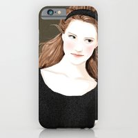 iPhone & iPod Case featuring Girl in black dress by Joe Tin Illustration