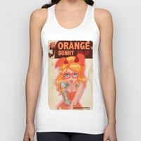Oranges bunny PIN UP magazine Unisex Tank Top